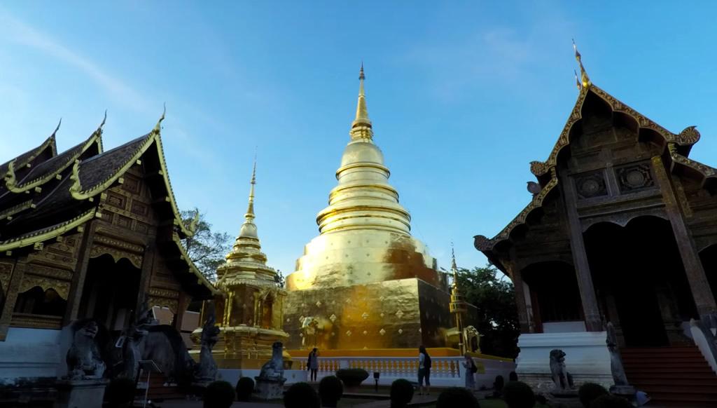 Templo de Wat Phra Singh en Chiang Mai