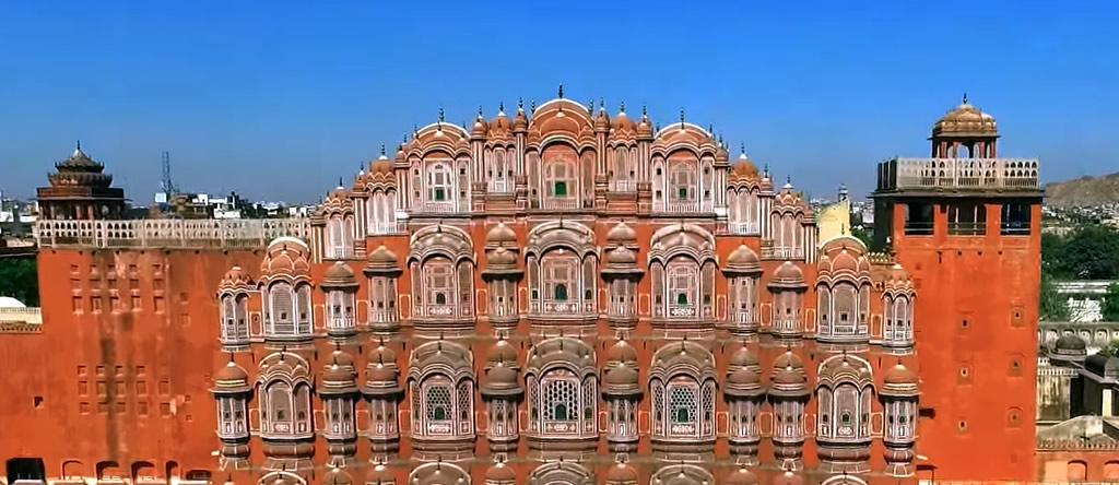 Palacio de los vientos (Hawa Mahal) en Jaipur