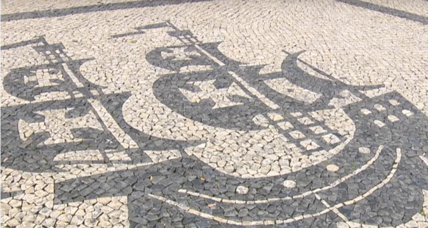 Otra muestra de calçada portuguesa