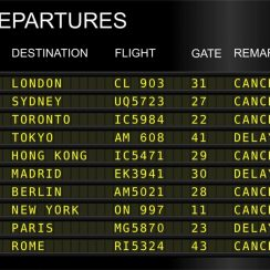 ¿Qué hacer si un vuelo se retrasa o cancela?